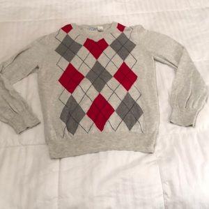 Argyle boy's sweater.